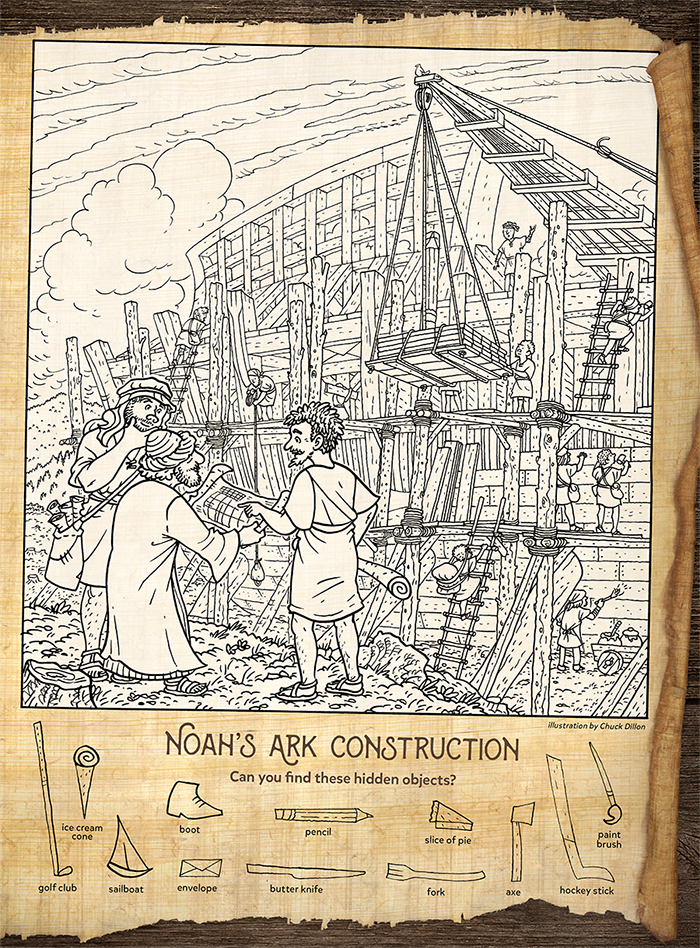 Noah's Ark Construction: Find the Hidden Objects