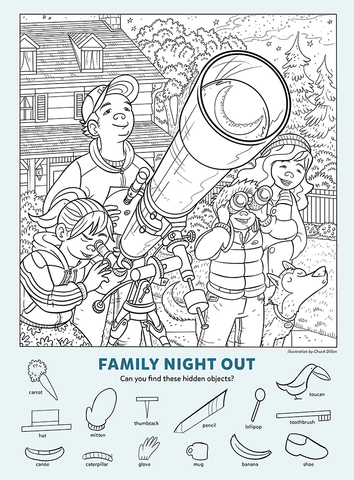 Family Night Out: Find the Hidden Objects