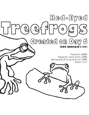 zoo frog coloring