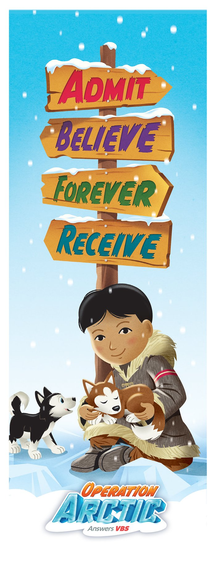 Admit, Believe, Forever Receive Bookmark