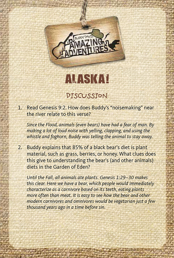 Buddy Davis' Amazing Adventures: Alaska Study Guide
