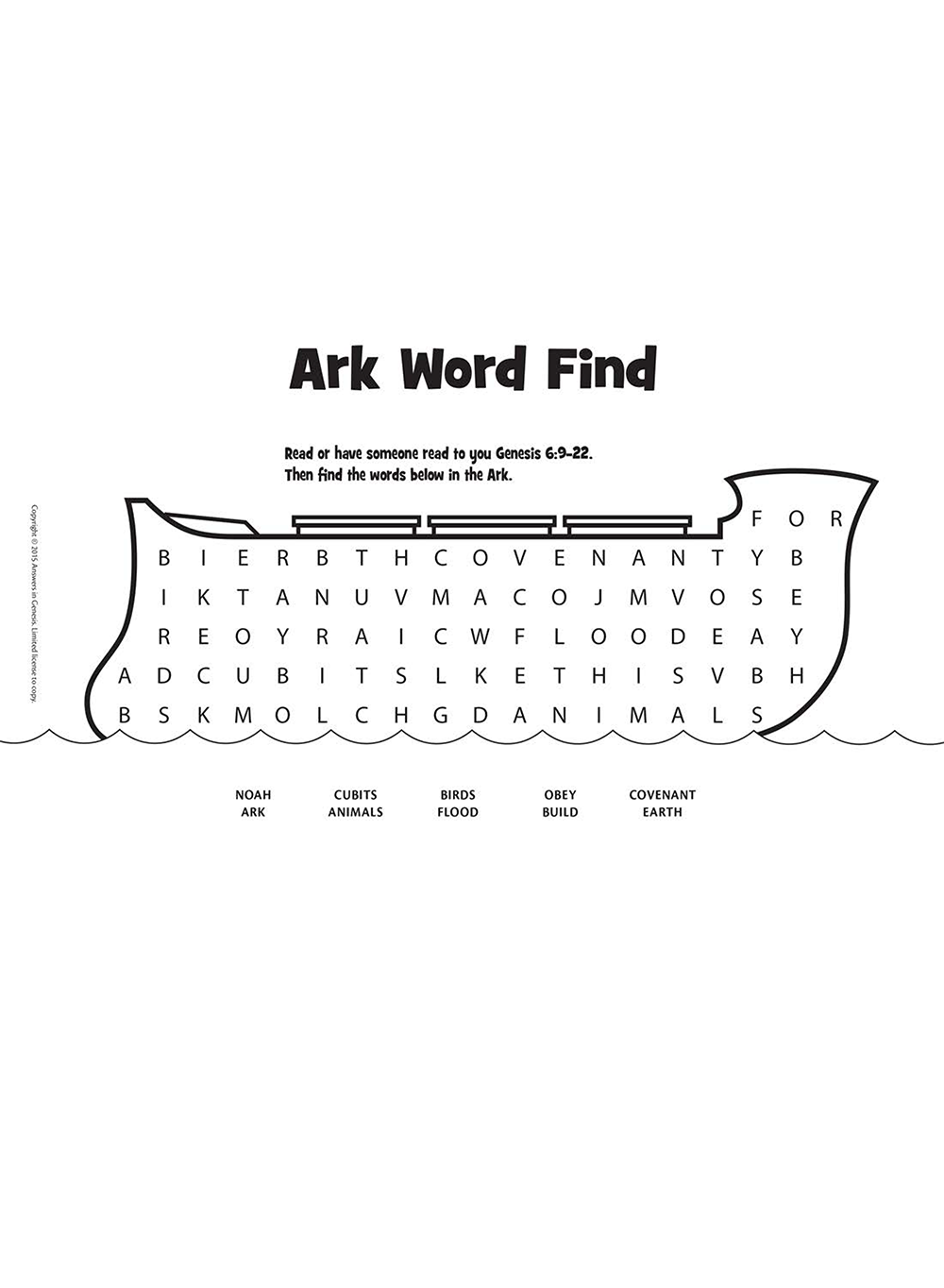 Ark Word Find