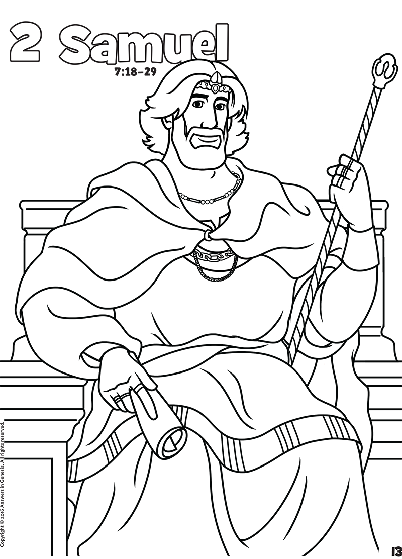 2 samuel - Hebrews 13 8 Coloring Page