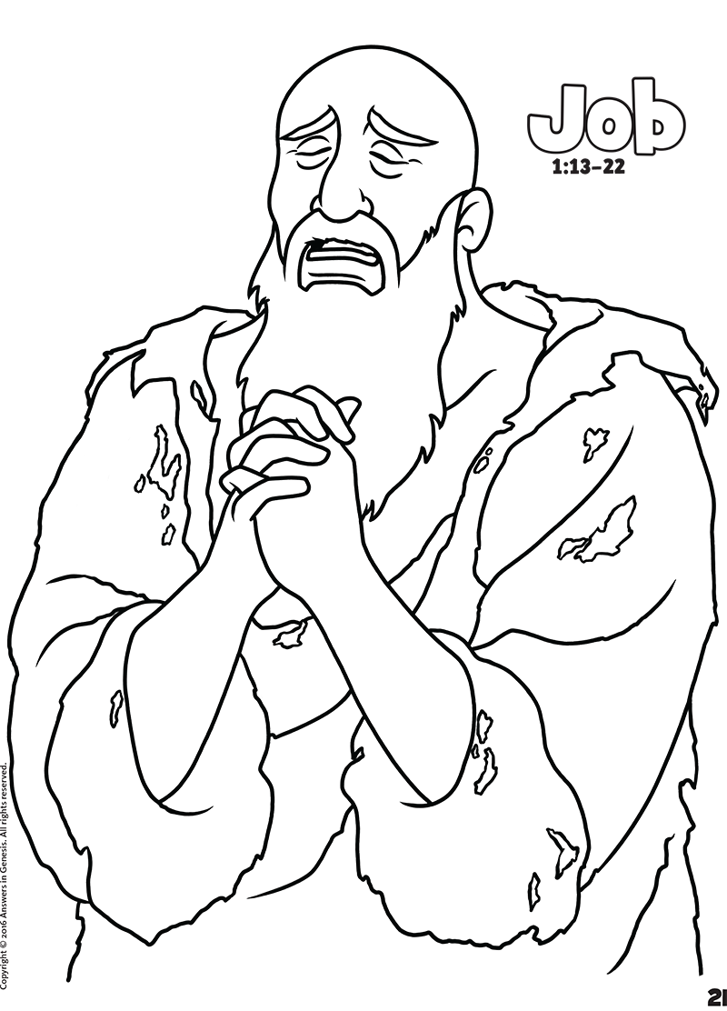 job coloring pages bible - photo#10