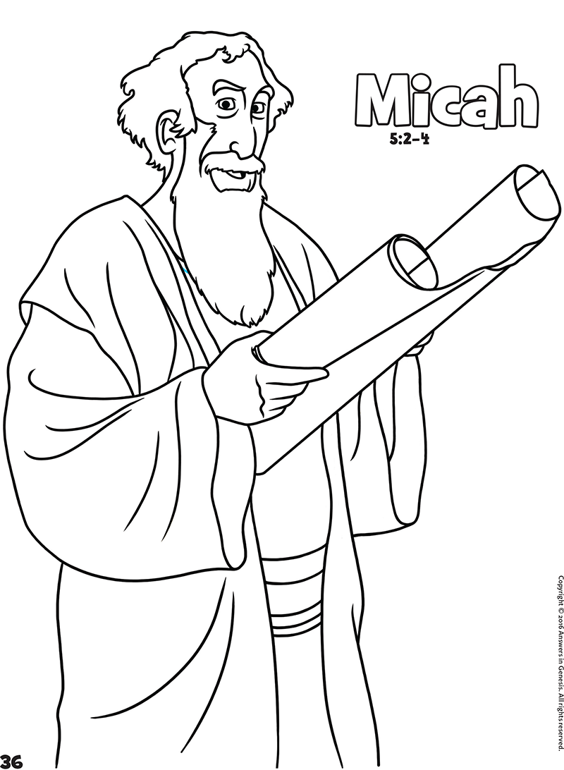 isaiah and micah coloring pages - photo#36