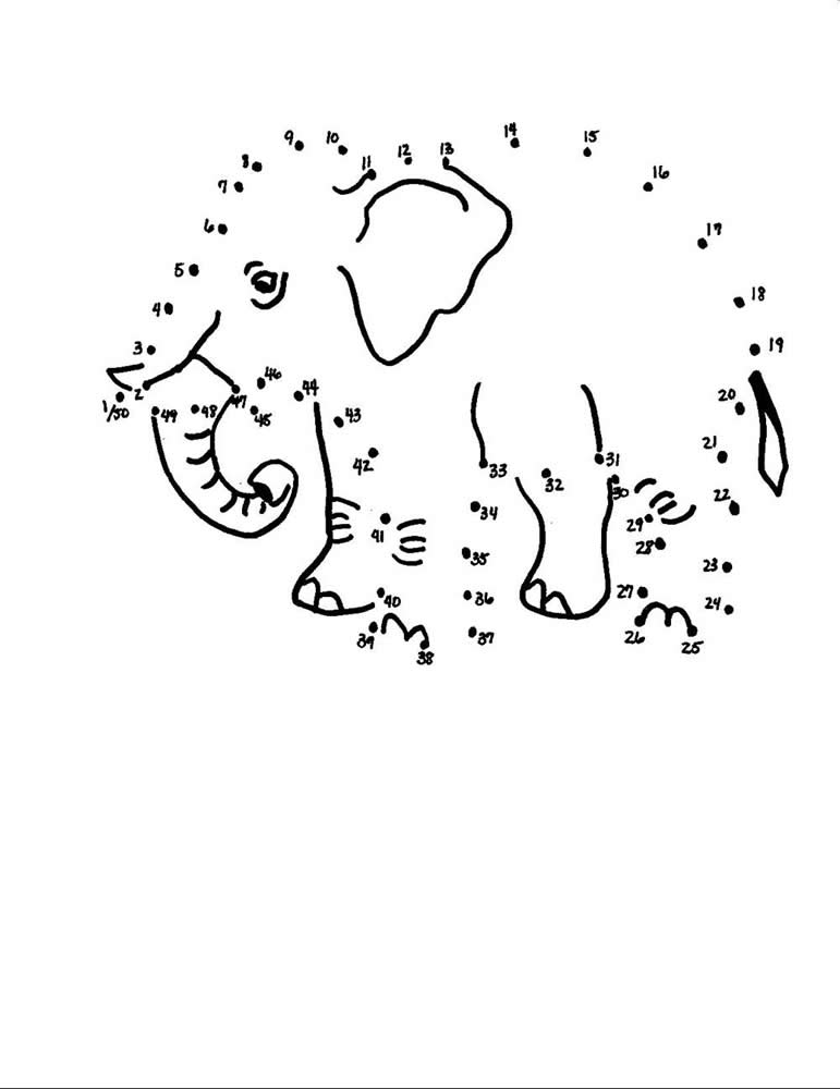 Elephant Dot-to-Dot