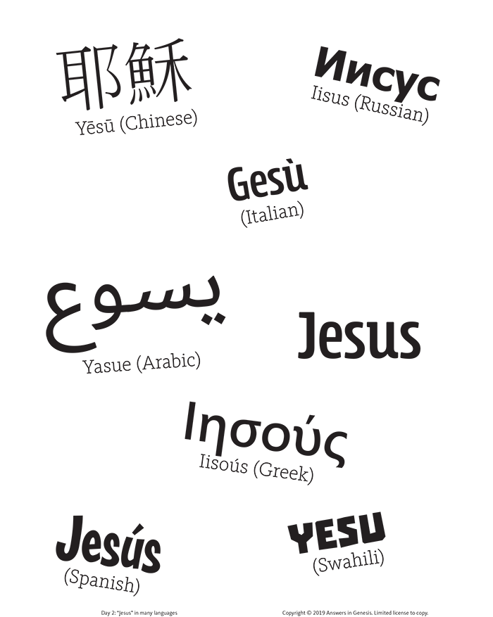 """Jesus"" in Many Languages"