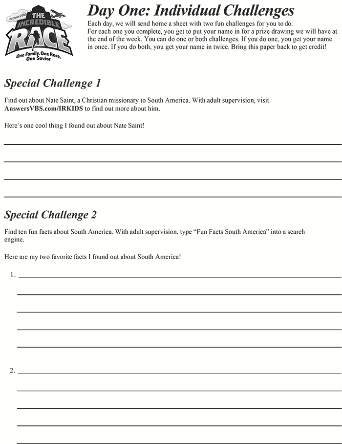 Day One Individual Challenge