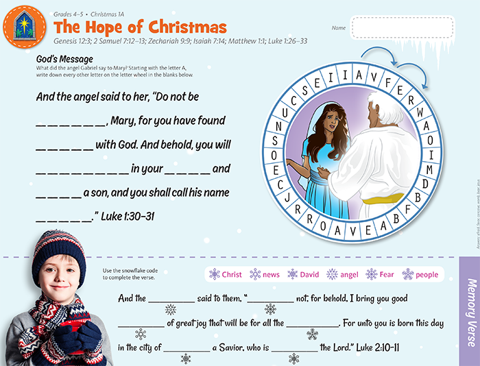 Hope of Christmas Decoder Game