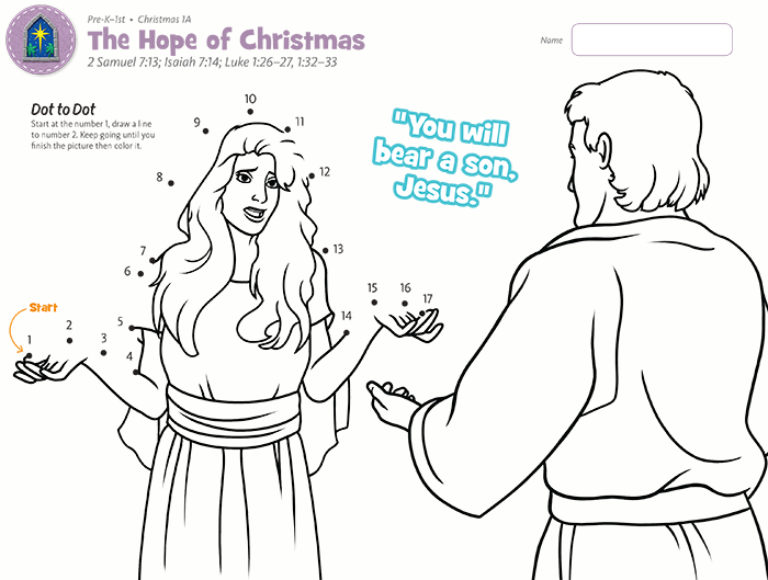 Hope of Christmas Dot to Dot