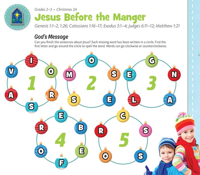 Jesus Before the Manger