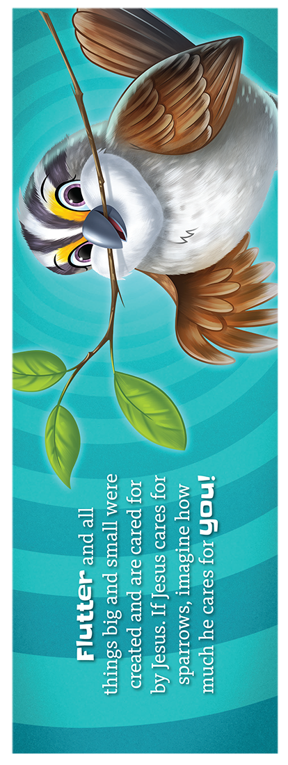 Flutter the Sparrow Bookmark