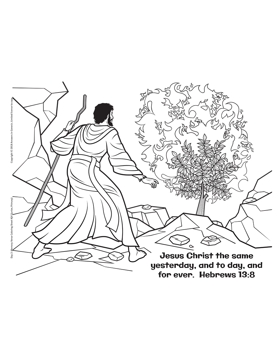 hebrews 138 coloring - Hebrews 13 8 Coloring Page