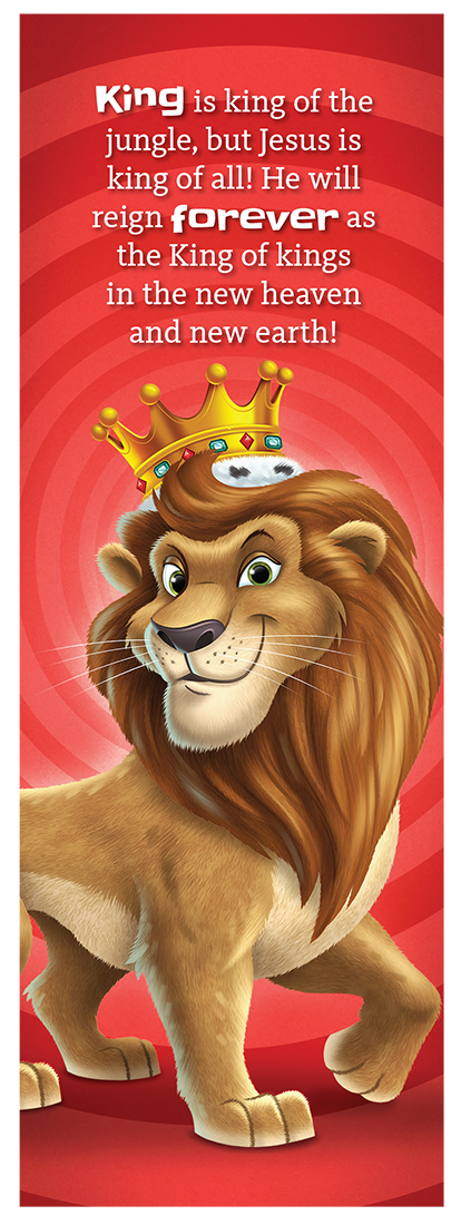 King the Lion Bookmark