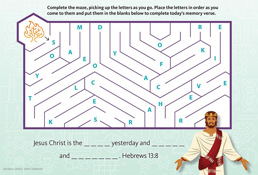Jesus Is Eternal Maze (Junior)