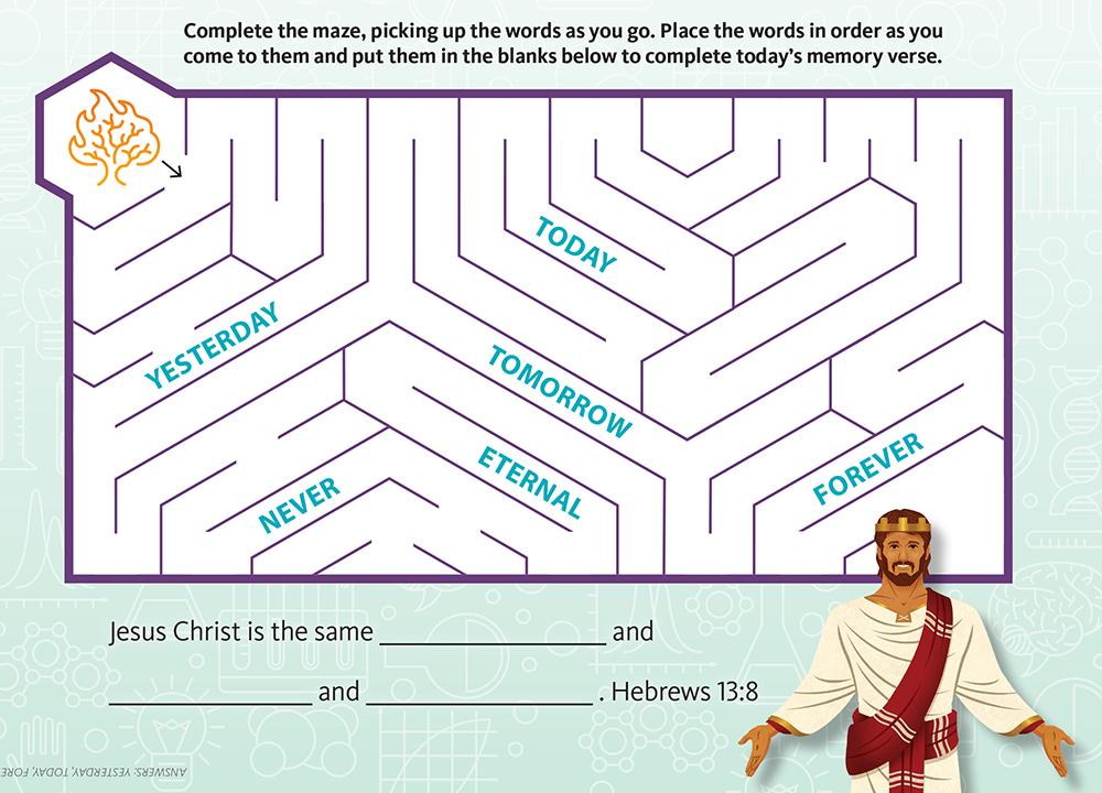Jesus Is Eternal Maze (Primary)