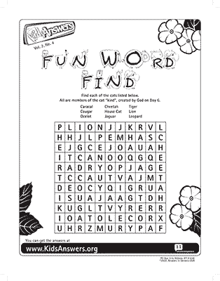 Cat Word Find