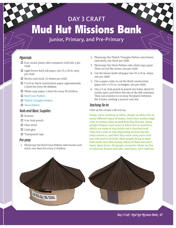 Mud Hut Missions Bank