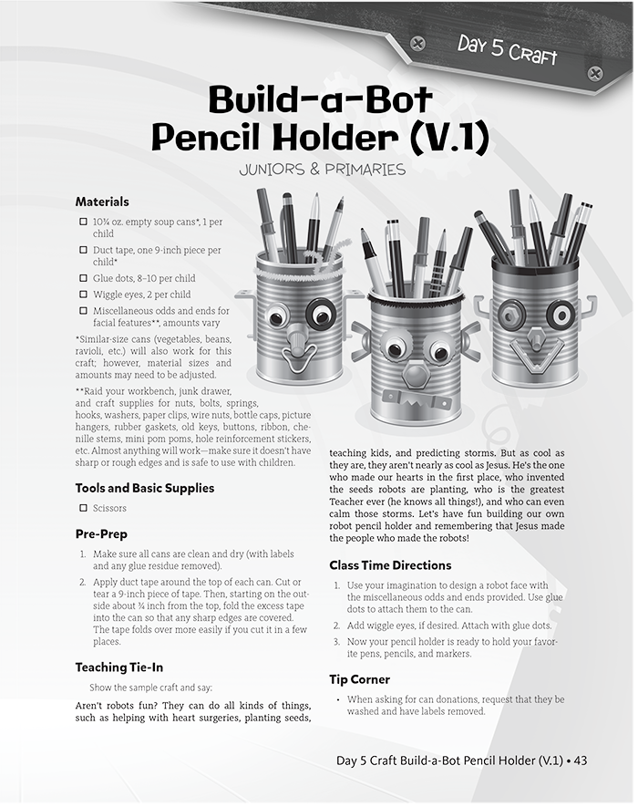 Build-a-Bot Pencil Holder