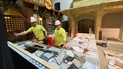 Palm Plaza at the Creation Museum Undergoing Transformation