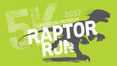 Creation Museum T-Rex Trains for Raptor Run 5K