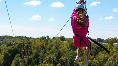 Ride the Zip Lines at Ark Encounter