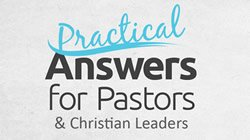 Answers for Pastors & Christian Leaders Event Artwork