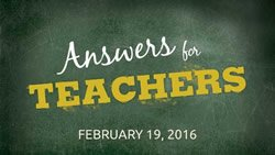 Answers for Teachers event image