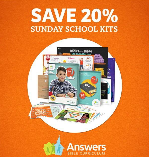 Save 20% on Sunday School Kits!