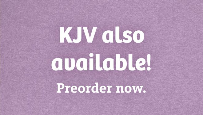 KJV Now Available for Preorder!