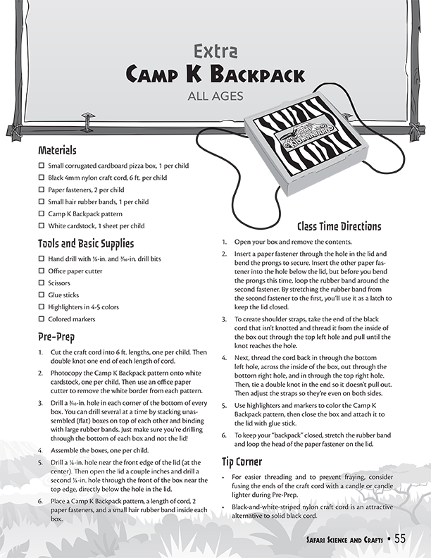 Camp K Backpack