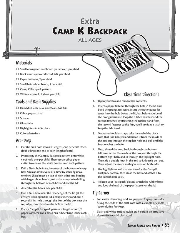 Camp K Backpack