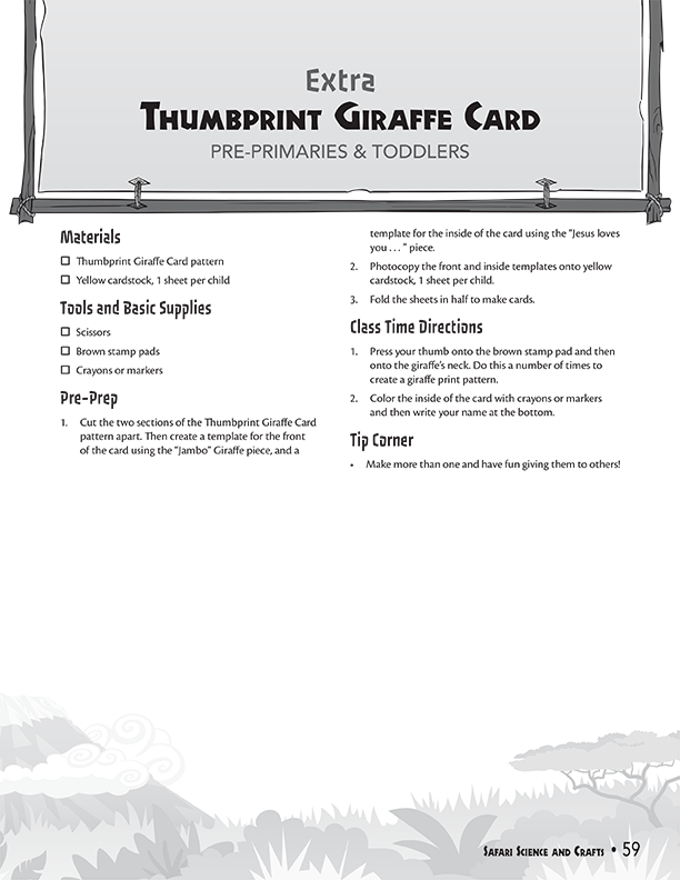 Thumbprint Giraffe Card