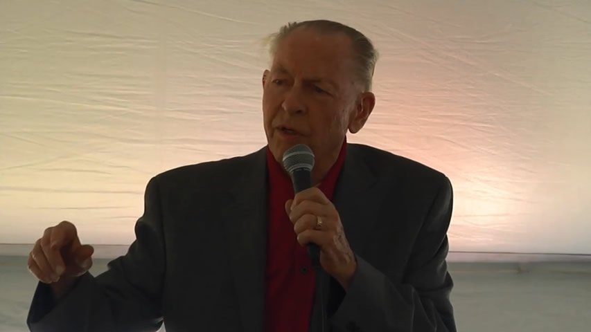 Dr. John Whitcomb at Ark Encounter Land Dedication