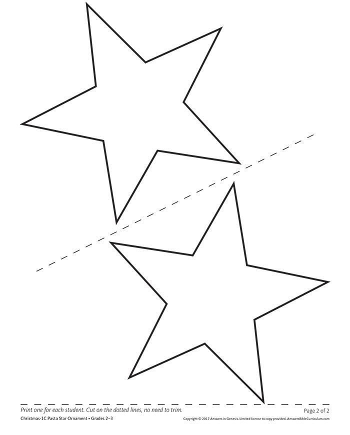 Pasta Star Ornament