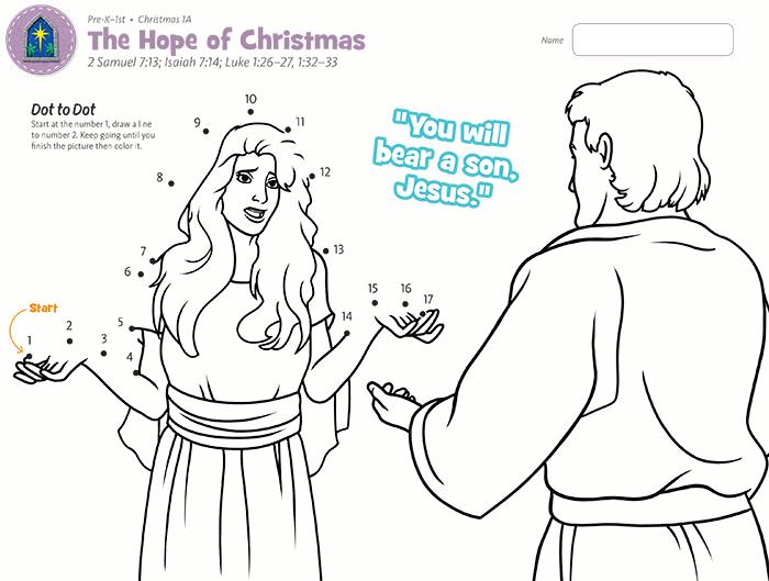 Hope of Christmas Dot to Dot