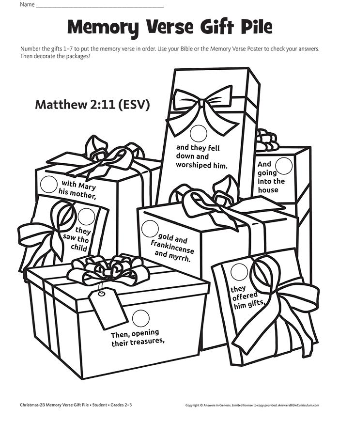 Memory Verse Gift Pile