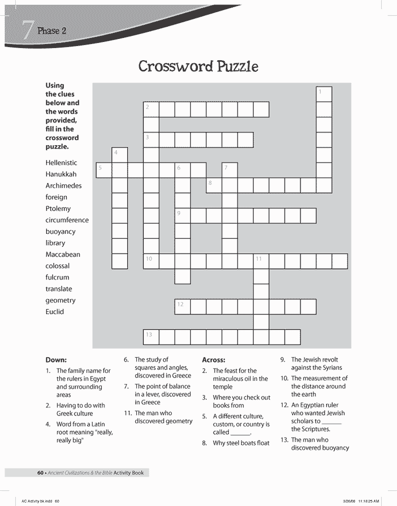 Greece Crossword