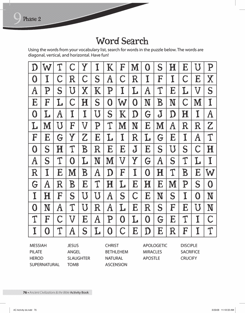 Jesus Word Search