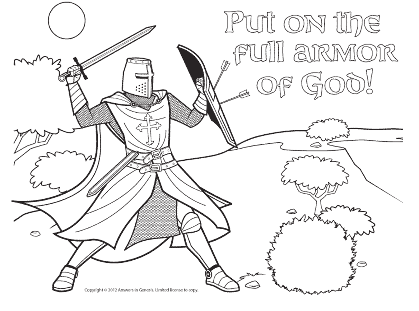 Free Coloring Pages Of Armor Of God Lds Armour Of God Coloring Page