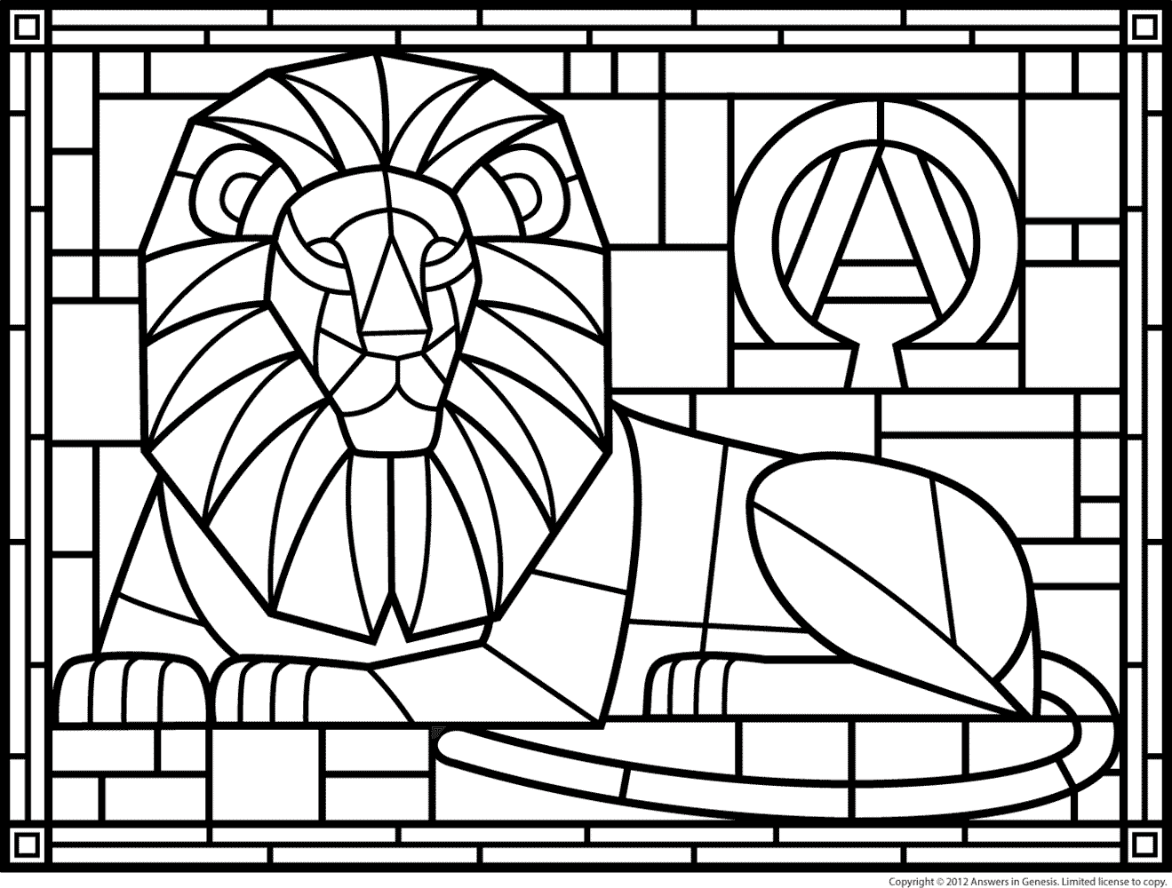 detailed stained glass coloring pages - photo#19