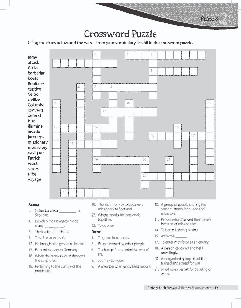 Missionary Crossword