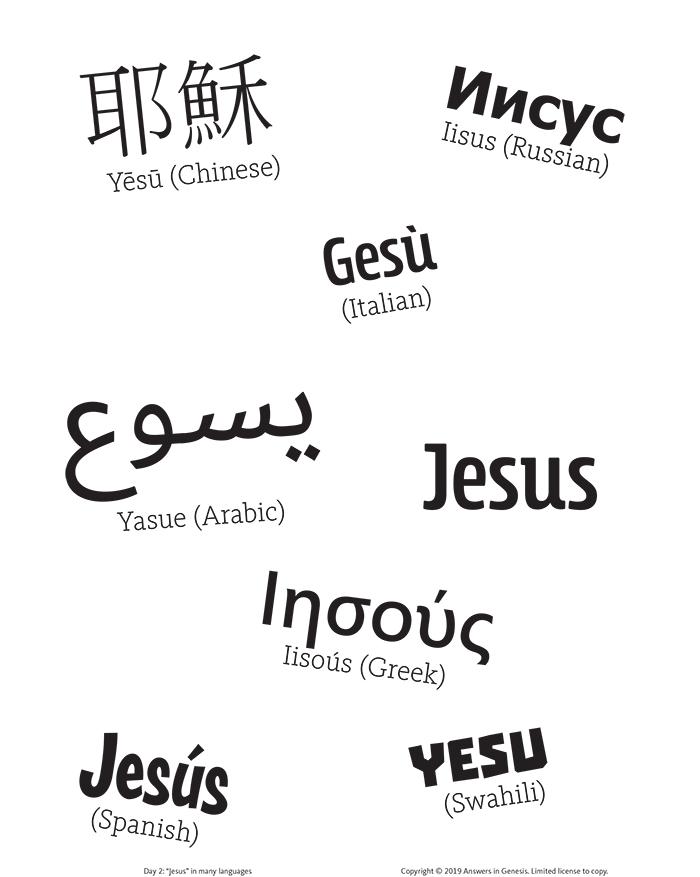 """Jesus"" in Many Languages"