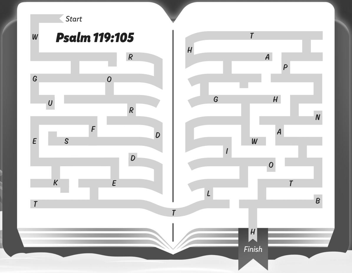 Psalm 119:105 maze