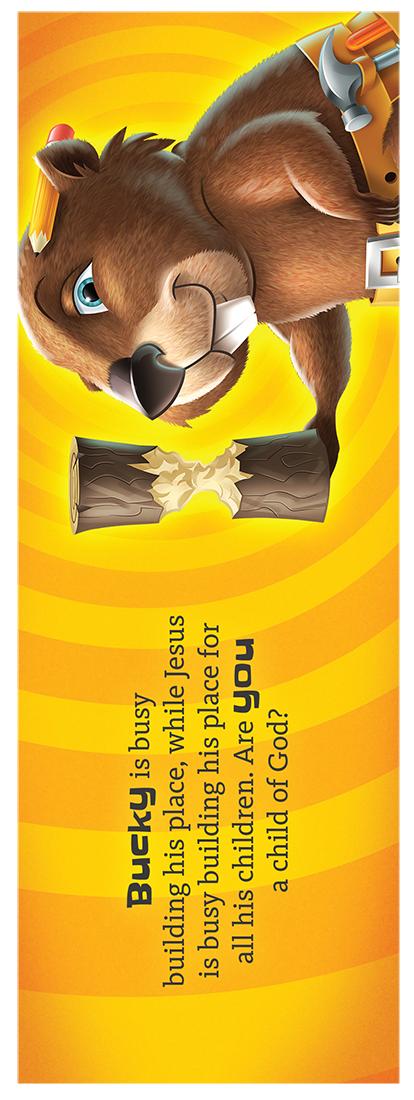 Bucky the Beaver Bookmark
