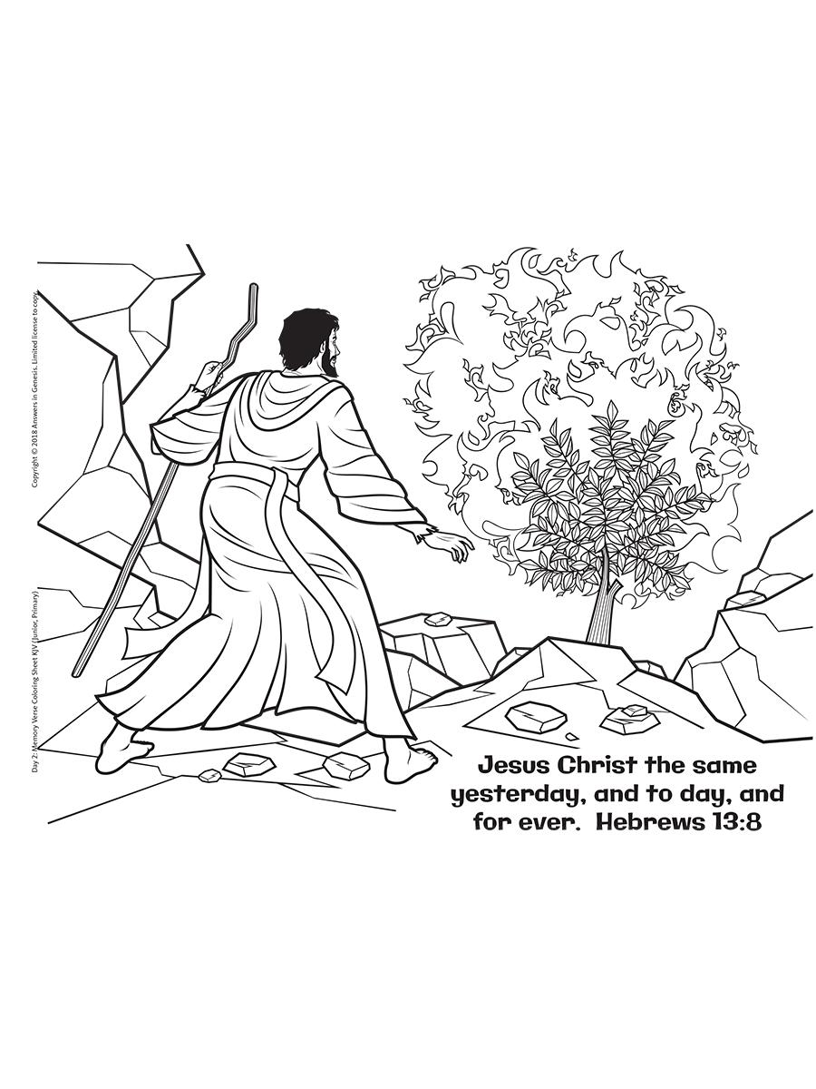 Hebrews 13:8 Coloring