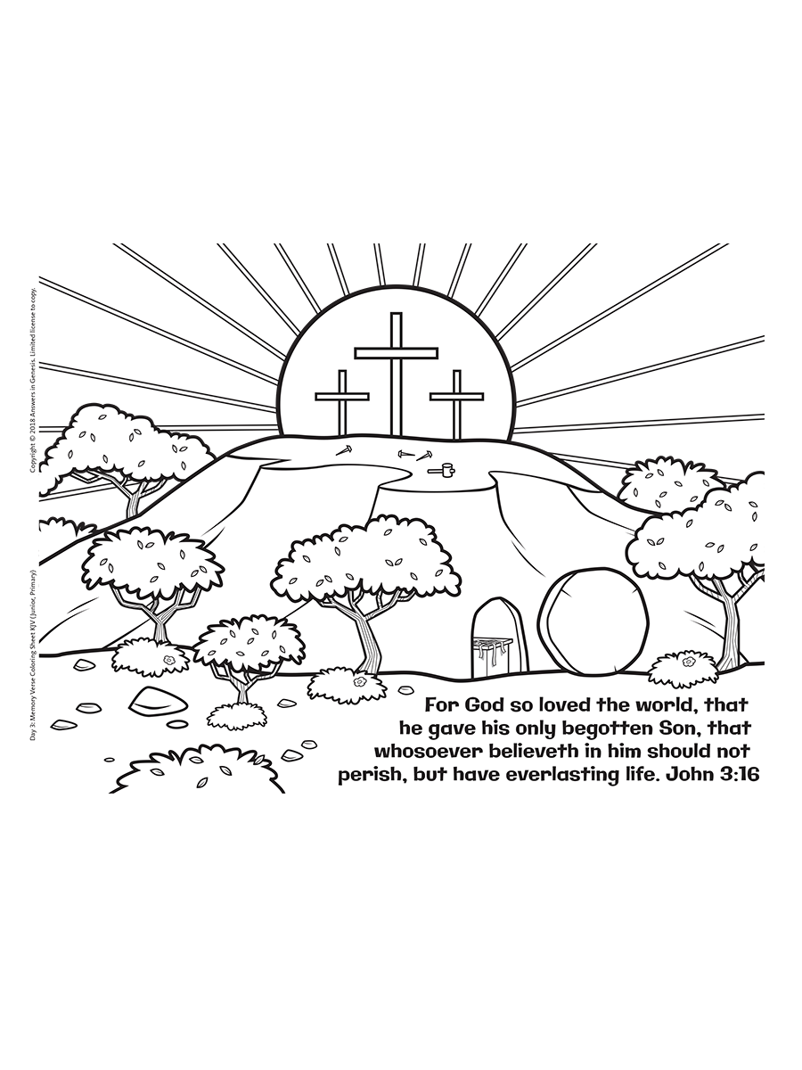John 3:16 Coloring