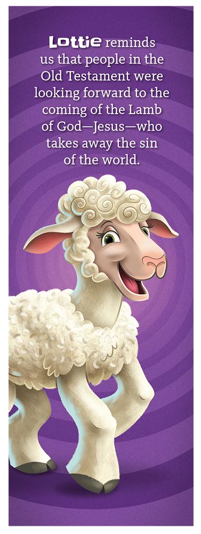 Lottie the Lamb Bookmark