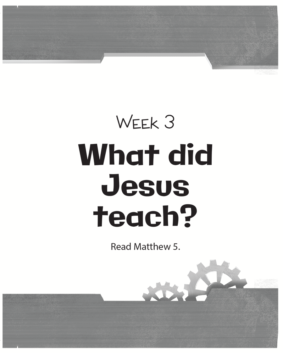 Week Three: What Did Jesus Teach?