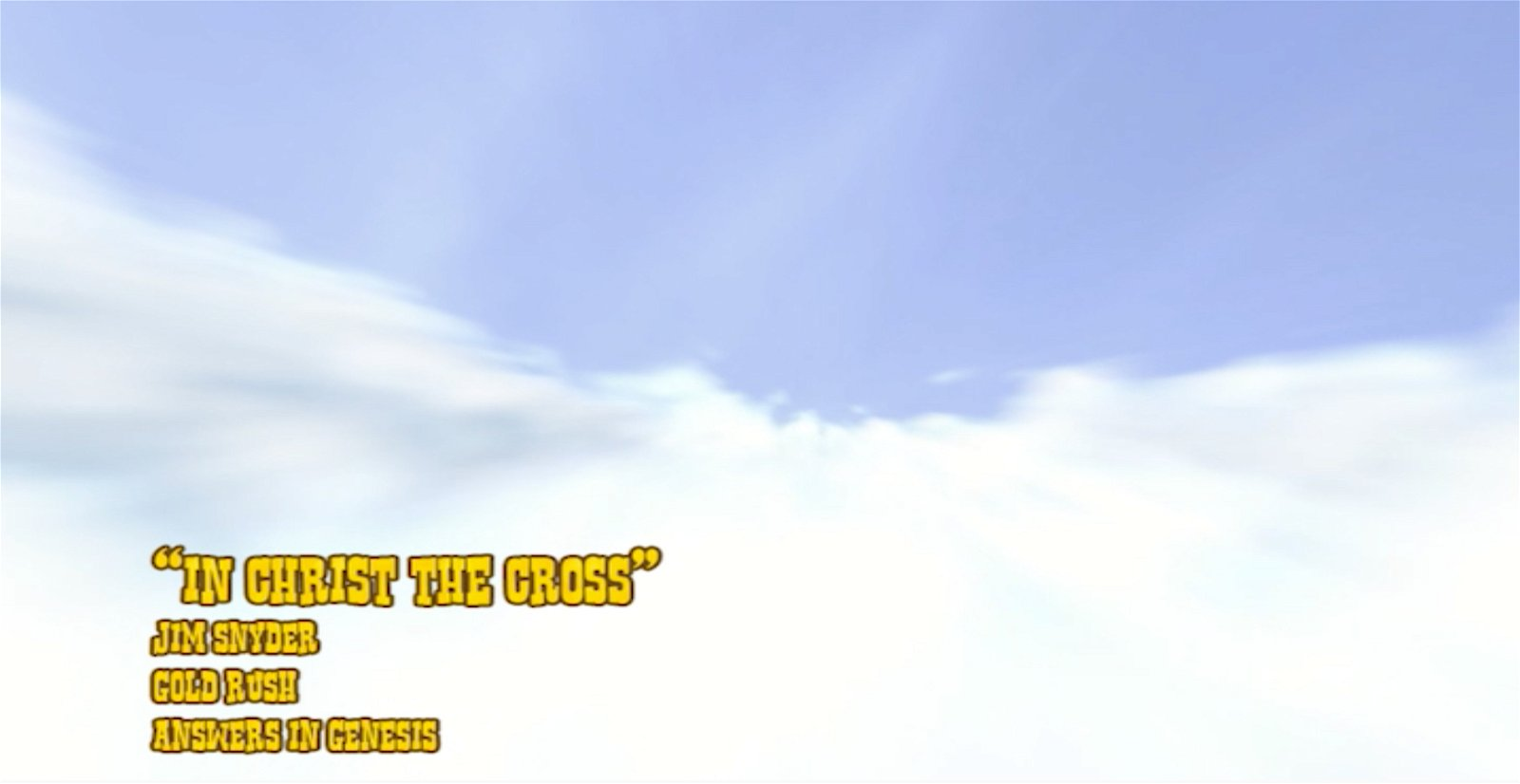 In Christ the Cross (Lyrics Video)